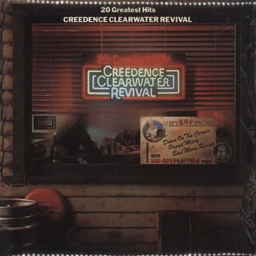 Creedence Clearwater Revival 20 Greatest Hits Uk Vinyl Lp