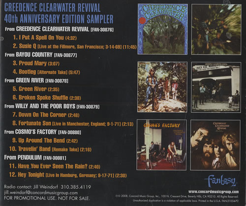 Creedence clearwater revival 40th anniversary editions box set uk.