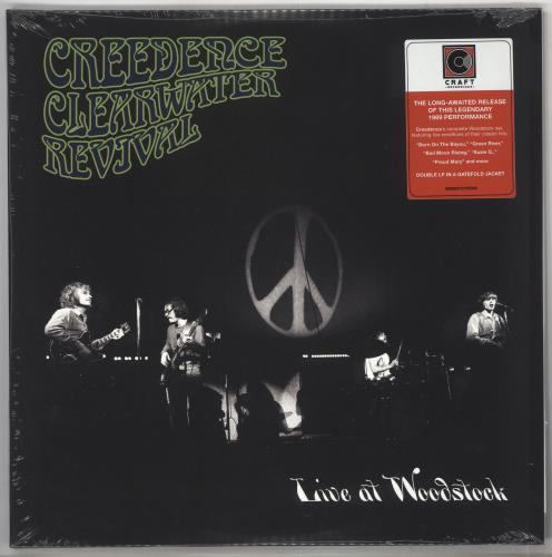 Creedence Clearwater Revival Live At Woodstock - Sealed UK 2-LP vinyl  record set (Double Album)
