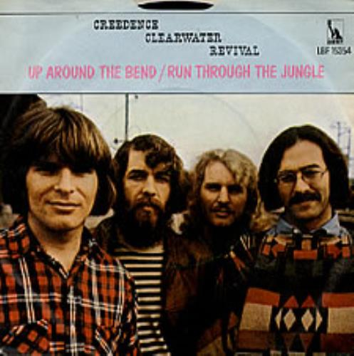"""Creedence Clearwater Revival Up Around The Bend 7"""" vinyl single (7 inch record) US CCL07UP239621"""