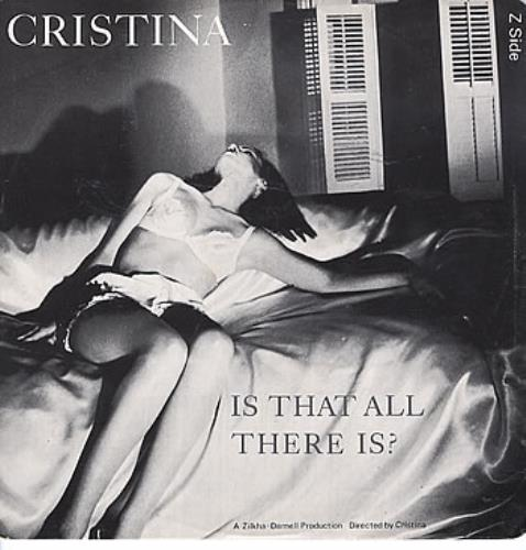 """Cristina Is That All There Is? 12"""" vinyl single (12 inch record / Maxi-single) UK TNC12IS168415"""