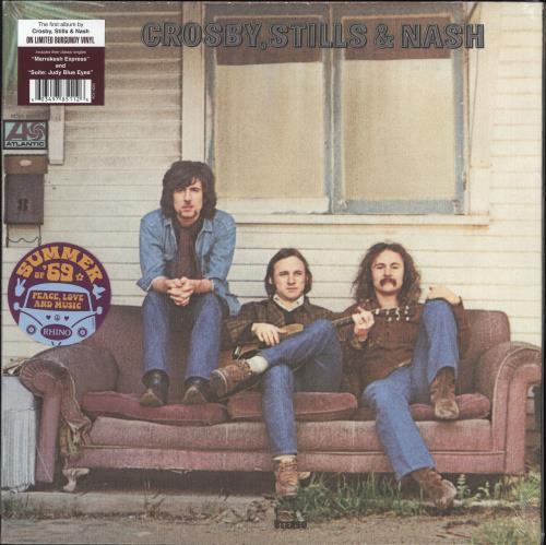 Crosby, Stills, Nash & Young Crosby, Stills & Nash - 140gm Burgundy Vinyl - Sealed vinyl LP album (LP record) US CSNLPCR726983