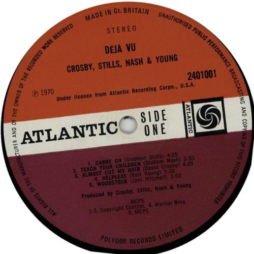 Crosby, Stills, Nash & Young Déjà Vu - 1st - VG vinyl LP album (LP record) UK CSNLPDJ557383