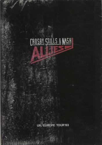 Crosby, Stills & Nash Allies - UK / Europe Tour '83 - EX tour programme UK NOYTRAL683224
