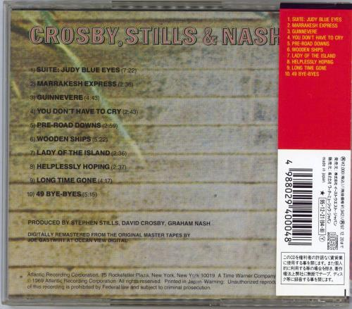 Crosby, Stills & Nash Crosby Stills & Nash CD album (CDLP) Japanese NOYCDCR768514