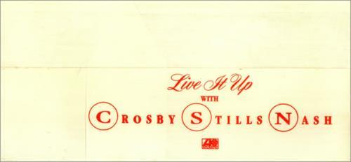 Crosby, Stills & Nash Live It Up - Paper Hat memorabilia US NOYMMLI454164