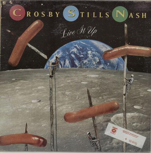 Crosby, Stills & Nash Live It Up vinyl LP album (LP record) Polish NOYLPLI569099