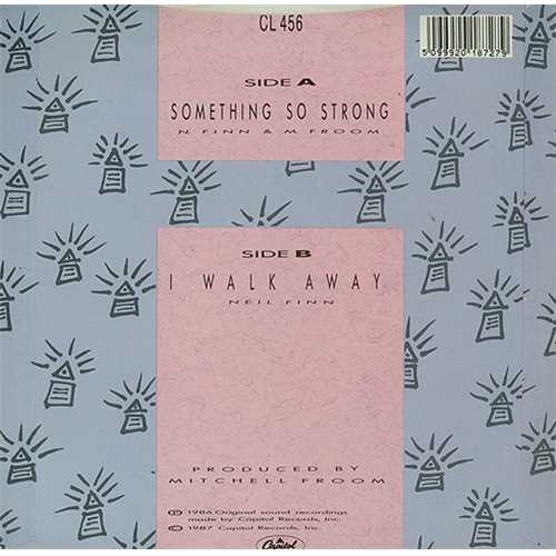 """Crowded House Something So Strong 7"""" vinyl single (7 inch record) UK CRD07SO46001"""