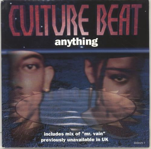 """Culture Beat Anything 7"""" vinyl single (7 inch record) UK CUB07AN700859"""