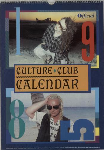 Culture Club 1984 85 Calendars Uk Calendar 650353 Calendars