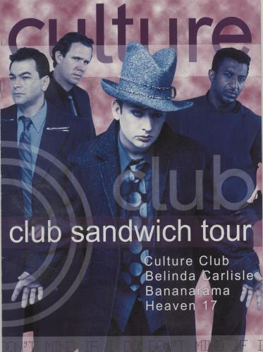 Culture Club Club Sandwich Tour + Ticket Stub tour programme UK CULTRCL675916