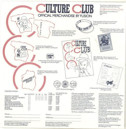 Culture Club Colour By Numbers - Lyric + Merch Insert vinyl LP album (LP record) UK CULLPCO698685