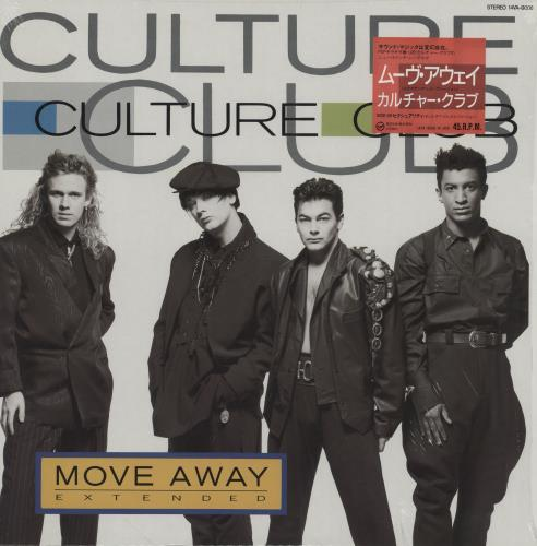 "Culture Club Move Away + obi sticker 12"" vinyl single (12 inch record / Maxi-single) Japanese CUL12MO154454"