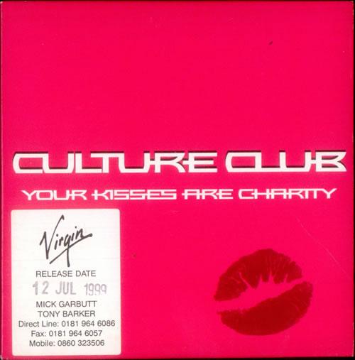 "Culture Club Your Kisses Are Charity CD single (CD5 / 5"") UK CULC5YO139341"