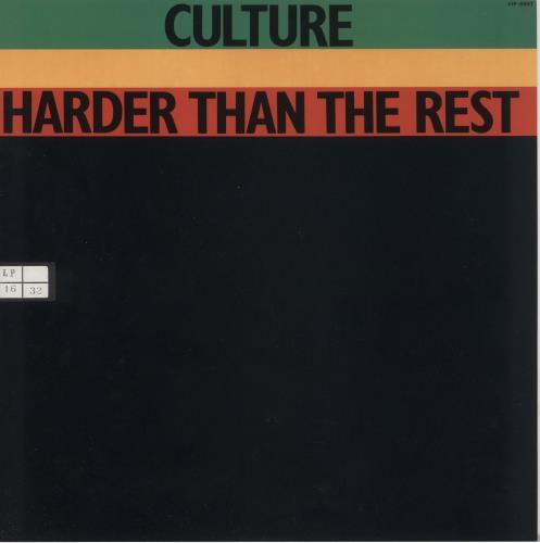 Culture Harder Than The Rest vinyl LP album (LP record) Japanese CE4LPHA740723