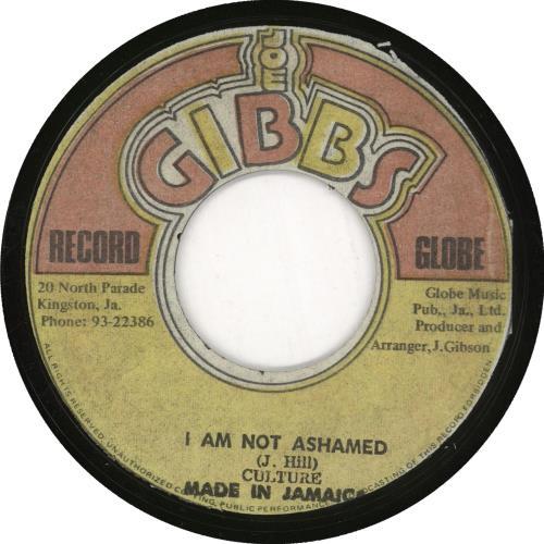 "Culture I Am Not Ashamed 7"" vinyl single (7 inch record) Jamaican CE407IA729139"