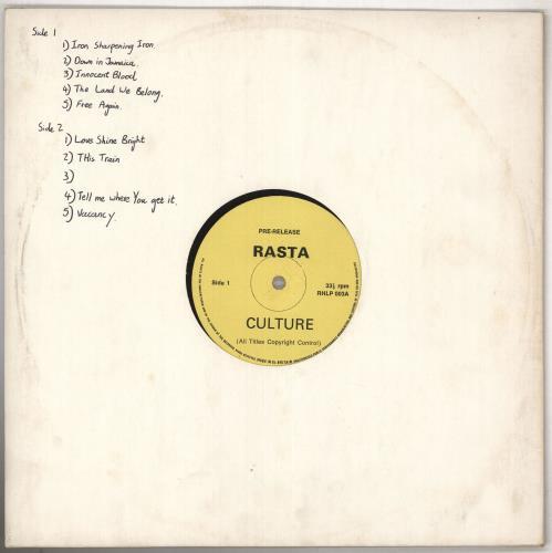 Culture Rasta vinyl LP album (LP record) UK CE4LPRA740341