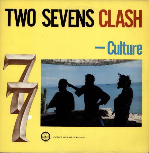 Culture Two Sevens Clash - Blue & Yellow Label vinyl LP album (LP record) Jamaican CE4LPTW704396