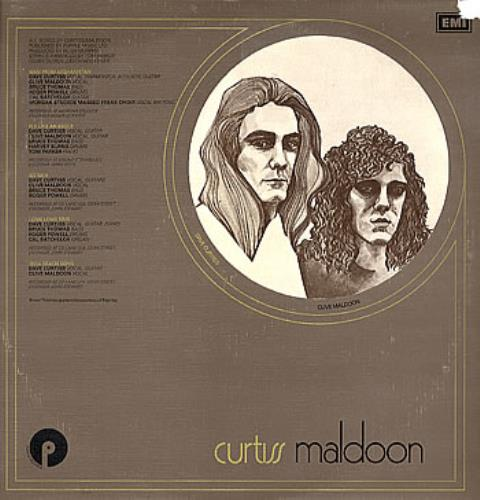 Curtiss Maldoon/Maldoon Curtiss Maldoon - Test Pressing vinyl LP album (LP record) UK CMULPCU301072