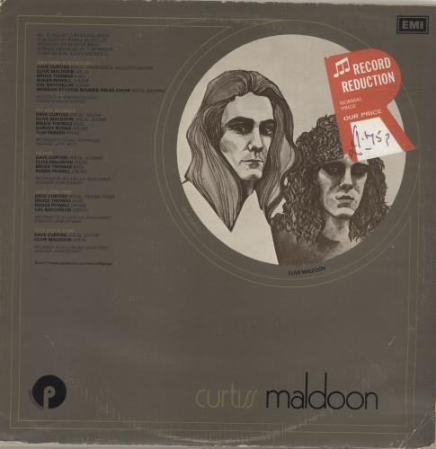 Curtiss Maldoon/Maldoon Curtiss Maldoon vinyl LP album (LP record) UK CMULPCU694263