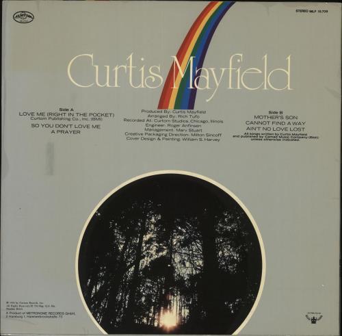 Curtis Mayfield Got To Find A Way vinyl LP album (LP record) German CMALPGO727021