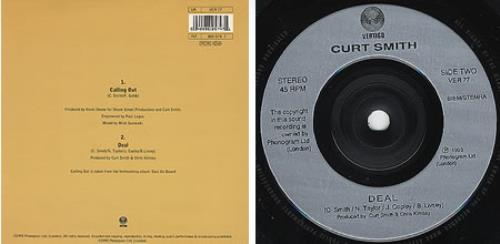"Curt Smith Calling Out 7"" vinyl single (7 inch record) UK URT07CA160219"