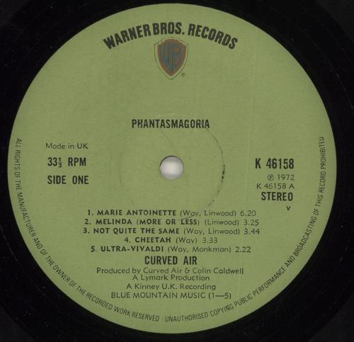Curved Air Phantasmagoria - 1st + Insert - EX vinyl LP album (LP record) UK CVDLPPH736887