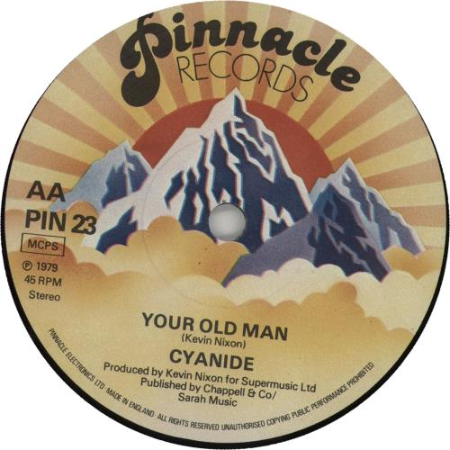 "Cyanide Your Old Man 7"" vinyl single (7 inch record) UK F8C07YO657761"