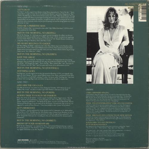 Cybill Shepherd Cybill Does It... To Cole Porter vinyl LP album (LP record) US CS2LPCY700368