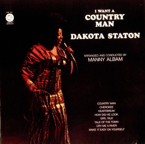 Dakota Staton I Want A Country Man vinyl LP album (LP record) US DKALPIW535776