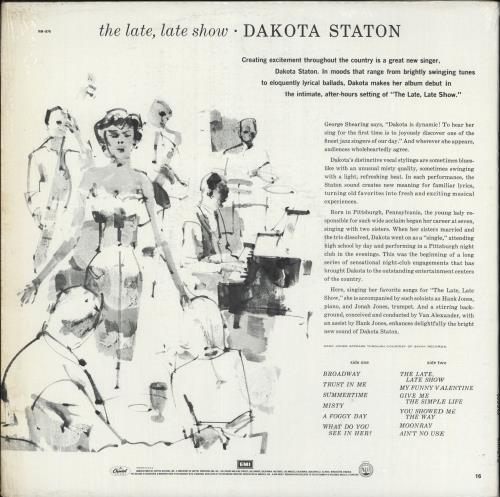 Dakota Staton The Late, Late Show vinyl LP album (LP record) US DKALPTH364063
