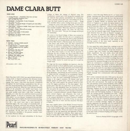 Dame Clara Butt Dame Clara Butt vinyl LP album (LP record) UK 1BTLPDA742776