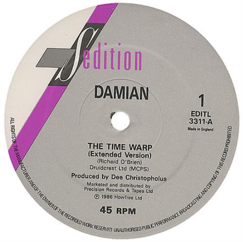 "Damian The Time Warp 12"" vinyl single (12 inch record / Maxi-single) UK DMN12TH107564"