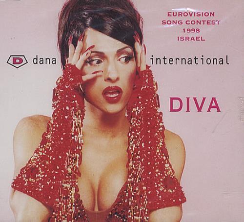 """Dana International Diva CD single (CD5 / 5"""") European D-NC5DI171053"""