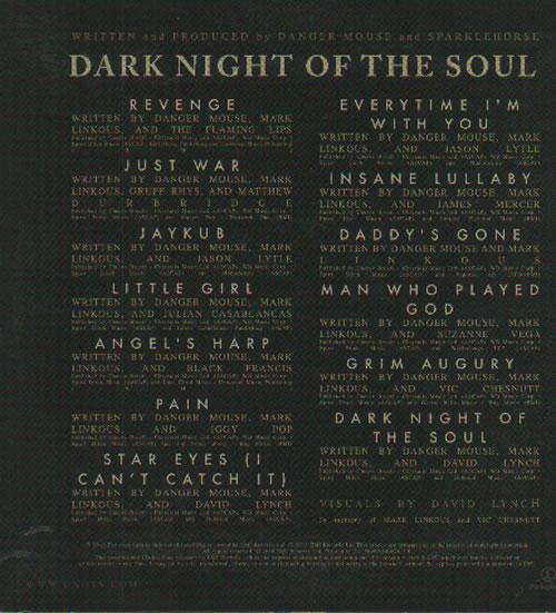 Danger Mouse Dark Night Of The Soul CD album (CDLP) UK D3OCDDA636844