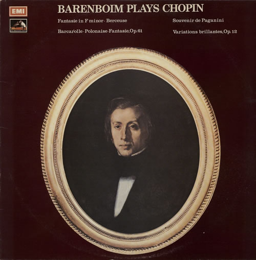 Daniel Barenboim Barenboim Plays Chopin vinyl LP album (LP record) Israeli H39LPBA637227