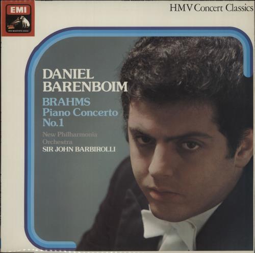 Daniel Barenboim Brahms: Piano Concerto No. 1 vinyl LP album (LP record) UK H39LPBR673766