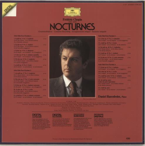 Daniel Barenboim Chopin: Nocturnes 2-LP vinyl record set (Double Album) German H392LCH695681