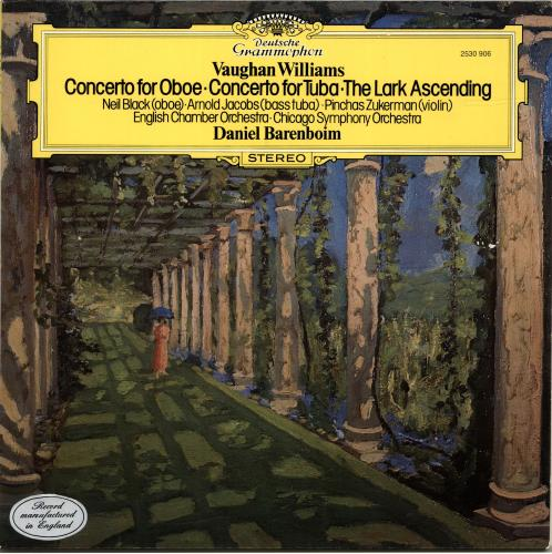 Daniel Barenboim Concerto For Oboe/ Concerto For Tuba/ The Lark Ascending vinyl LP album (LP record) UK H39LPCO690476