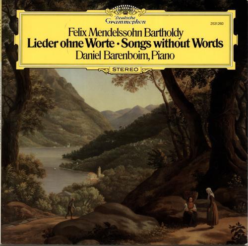 Daniel Barenboim Mendelssohn: Lieder Ohne Worte vinyl LP album (LP record) German H39LPME700860