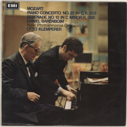 Daniel Barenboim Mozart: Piano Concerto No.25 in C, K.503 / Serenade No.12 in C Minor, K.388 vinyl LP album (LP record) UK H39LPMO700088
