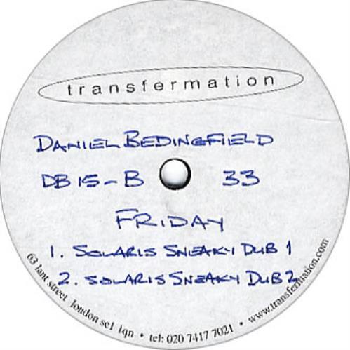 "Daniel Bedingfield Friday 12"" vinyl single (12 inch record / Maxi-single) UK DBE12FR275210"