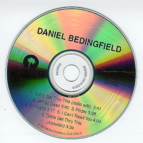 Daniel Bedingfield Gotta Get Thru This Sampler CD-R acetate US DBECRGO251338