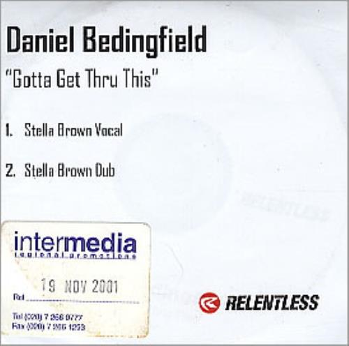 Daniel Bedingfield Gotta Get Thru This CD-R acetate UK DBECRGO288309