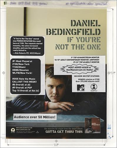 Daniel Bedingfield If You're Not The One artwork US DBEARIF395581