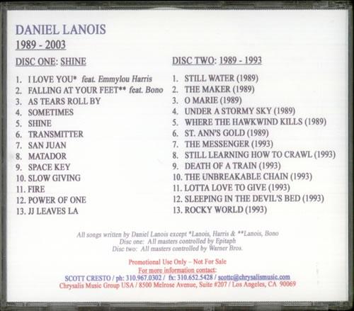 Daniel Lanois The Music Of Daniel Lanois 1989-2003 2 CD album set (Double CD) US DNL2CTH541720