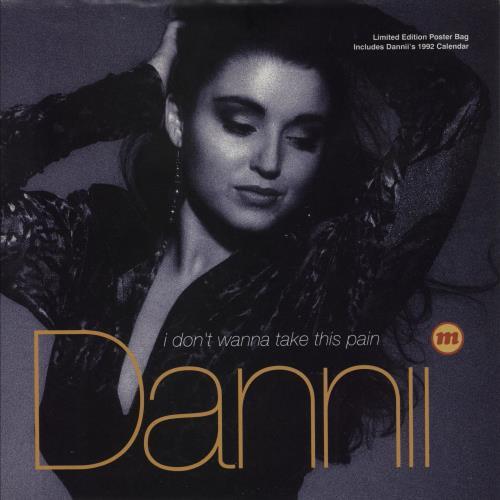 "Dannii Minogue I Don't Wanna Take This Pain + Poster 7"" vinyl single (7 inch record) UK DAN07ID750162"
