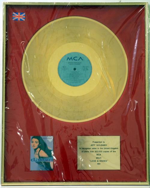 Dannii Minogue Love & Kisses - Gold award disc UK DANAWLO608908