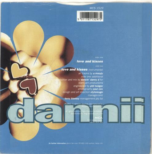 "Dannii Minogue Love And Kisses 7"" vinyl single (7 inch record) UK DAN07LO289373"