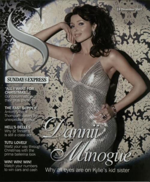 Dannii Minogue Sunday Express magazine UK DANMASU606097